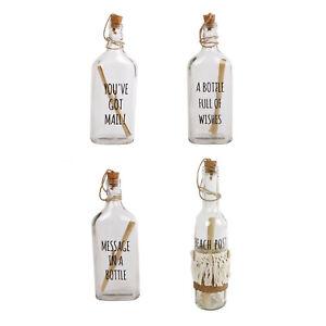 Flaschenpost Glasflasche mit Aufdruck Botschaft Deko Flasche Glas Geschenk
