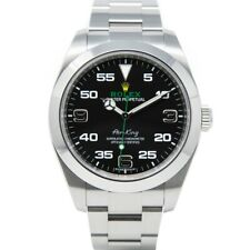 Rolex Men's Air-King Stainless Steel 116900 Wristwatch - Black Arabic Dial
