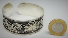 Ladies/Girls Cuff Bangle/Band,Middle East,Silver Coloured,2 Inches,F/Free P&P