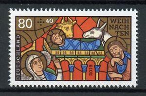 Germany Christmas Stamps 2019 MNH Nativity Stained Glass Weihnachten 1v Set