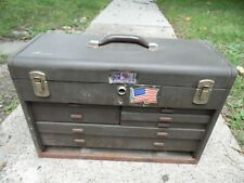 "Kennedy 20"" Vintage Metal Machinist Tool Box Chest 7 Drawers 8 Compartments USA"