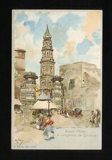 Italy NAPOLI NAPLES Porta e campnile del Carmine Artist Miglario c1902 u/b PPC