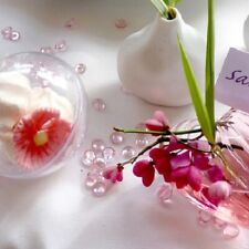 500 PERLES de pluie GOUTTE d'eau Rose Décoration de Table Mariage Baptême Fête