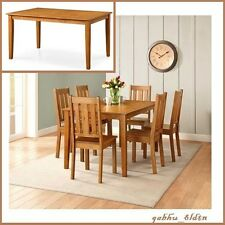 "Classic Wood Dining Table, Kitchen Desk for 6 Solid Wood Furniture 59"" W"
