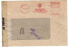1945 Potsdam Germany MEter Cover Arado Jet Bomber Sender Censored by US Army