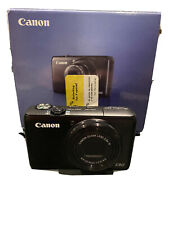 Canon S90 point and shoot digital camera used with box and original papers