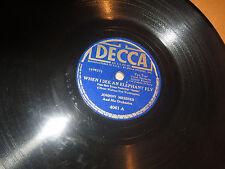 78RPM Decca Disney Dumbo Johnny Messner, When I See Elephant Fly / Baby Mine V