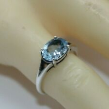 Bergkristall Ring 925 Silber drei facettierte ovalen Edelsteine modisch neu