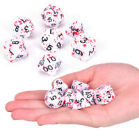 7Pcs/Set Polyhedral Games Dice Multi Sides Dice for Board Game Bloody D xi