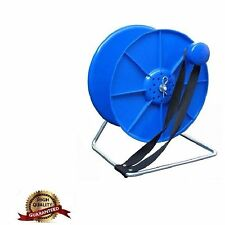 NEW COMPLETE BLUE REEL / SPOOL STAND WITH LOCK ELECTRIC FENCE FENCING WIRE TAPE