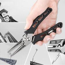 Stainless Steel Fishing Pliers Hook Removers Braid Cutters Split Ring Scissors