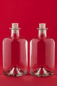 100/200/350/500/1000 ml leere Glas-Flaschen APO-SPI Schnaps Likör Saft Wein neu