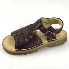 Dr Martens Little Girls Sandals US Size 11 Brown Shoe Brown Pebbled Leather