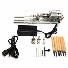 Drillpro Mini Lathe Machine Wood Working DIY Lathe Set with DC 24V Power Adapter