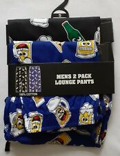 Men's Lounge Pants/Pyjama Bottoms - 2-Pack - Beer Theme - Size Small - Brand New