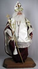 Collectible all orig. St. Nicholas Bishop Myra Xmas figure by Brenda Goin Morris