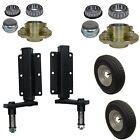 """350kg Trailer Suspension Unit (Pair) & Cast Wheel Hubs & 400 - 8 Wheels 4"""" PCD"""