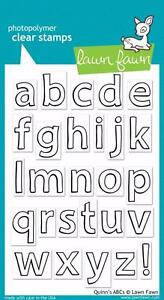 Lawn Fawn Clear Stamp Set of 27~ Quinn's  ABC'S ~ Alphabet Set Lower Case LF353