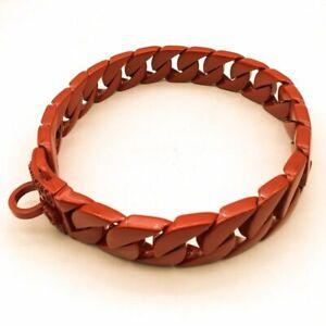 Dog Collar Chain Stainless Steel Cuban Large Pitbull Bulldog Doberman Pinscher