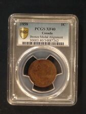 1858 Canada One Cent PCGS XF40 BRONZE MEDAL ALIGNMENT1C Coin PRICED TO SELL NOW!