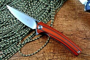 Drop Point Knife Folding Pocket Hunting Survival Wild Combat G10 Handle D2 Steel
