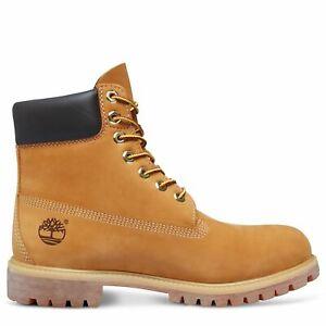 Timberland Men's Footwear Premium Nubuck Classic Wheat Yellow Boots T-10061
