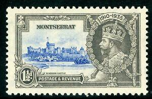 British 1935 KGV Silver Jubilee Montserrat 1½d Scott # 86 Mint C468