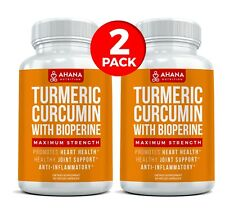 Turmeric Curcumin Maximum Strength 1,200mg With Bioperine Black Pepper (2 PACK)