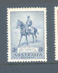 AUSTRALIA PREDECIMAL 1935 SILVER JUBILEE VERY FINE MNH........22