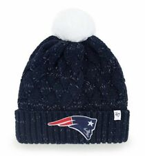 NWT NEW ENGLAND PATRIOTS WOMENS' NAVY CABLE KNIT HAT BY '47 BRAND - ONE SIZE