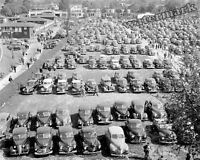 Photograph of Vintage Cars at The  Maryland Pimlico Racetrack Year 1943 8x10