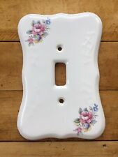 VB Athena Porcelain Single Light Switch Cover Plate Red Blue Floral
