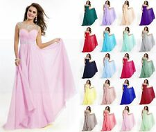 Long Formal Ball Gown Cocktail Evening Prom Party Dress Bridesmaid Dresses 6-18