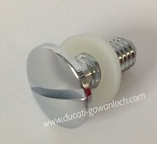 DUCATI 8MM CHROME SIDE COVER SCREW & WASHER