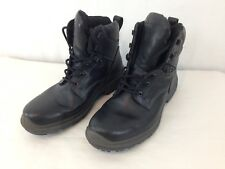 Ecco Mens EU 42 Black Gore Tex Fleece Lined Insulated 6 Eye Lace Up Ankle Boots