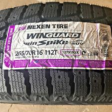 1 New 265 70 16 Nexen Win Guard Win Spike Snow Tire
