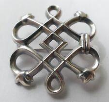 Kalevala Koru Helsinki Designer Brosche 916 Silber Vintage 70er brooch silver