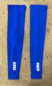 Moozes Lycra Thermal Fleece Lined Arm Warmers With Grippers - Blue