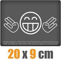 JDM Doppel Shocker 20 x 9 cm JDM Decal Sticker Auto Car Weiß Scheibenaufkleber