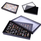 100 Ring Jewellery Display Storage Box Tray Show Case Organiser Holder hOT
