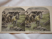 Antique Stereoview Card - A Single Gun that Silenced Ten the Great War #9374