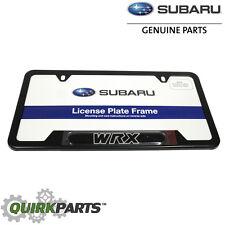 NEW 2016 Subaru Matte Black License Plate Frame Impreza WRX STi OEM SOA342L125