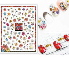 Lily flower Nail Art Sticker/Colored Floral DIY Tips Guides Transfer Stickers