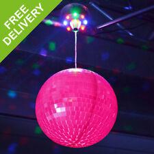 Beamz 20cm LED Motorised Glowing Glitter Mirror Disco Ball Light Party Lighting
