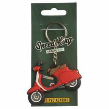 Vespa Lambretta Scooter Moped Novelty Red Keyring PVC Collectable | Novelty Gift