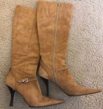 fd0252cbcc62 KENNETH COLE NEW YORK BROWN SUEDE LONG BOOTS - SIZE 6 POINTY