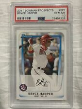 BRYCE HARPER 2011 BOWMAN PROSPECTS RC ROOKIE PSA 10 NATIONALS