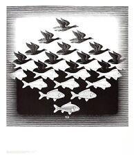 MC Escher Luft und Wasser Poster Kunstdruck Bild 65x55cm