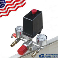 Air Compressor Pressure Control Switch Valve Manifold Regulator+Gauges Relief-US