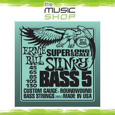 Ernie Ball 2850 Super Long Scale Slinky 5-String Bass Guitar Strings - 45-130